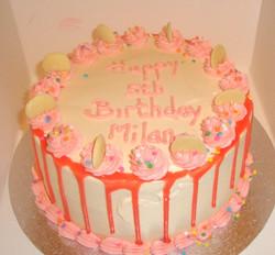 Vanilla Drip  Buttercream Cake
