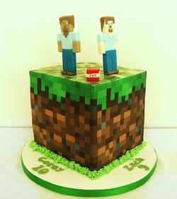 Minecraft Grassblock Cake