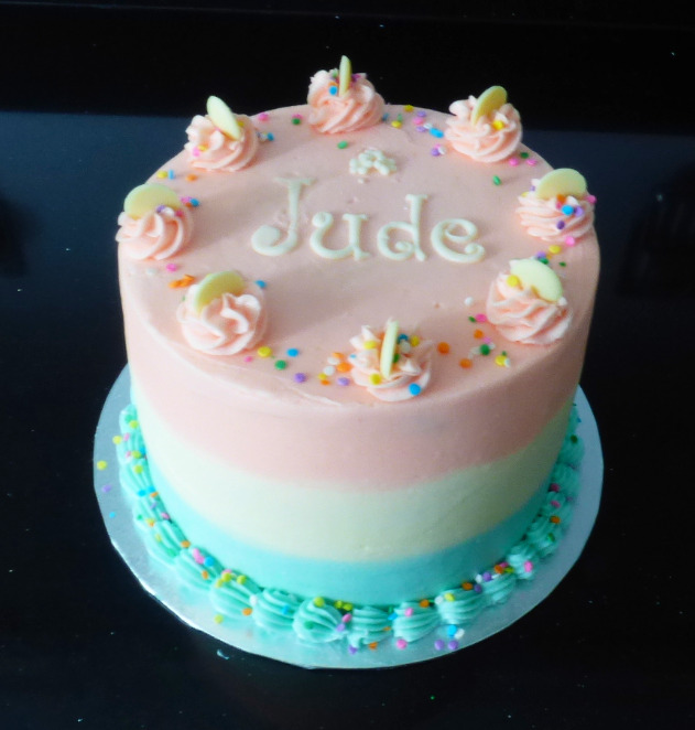 Three Coloured Vanilla Buttercream Cake