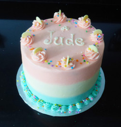 Three Coloured Vanilla Buttercream Cake