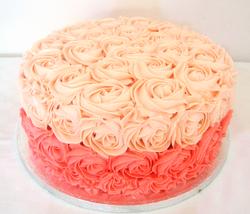 Rosepiped Buttercream Cake