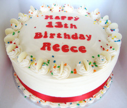 Chocolate Buttons Birthday Cake