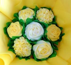 Small Yellow & White Cupcake Bouquet