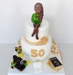 Hobby Enthusiast Two-Tiered Cake