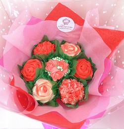 Small Red & White Cupcake Bouqcake