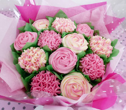 Mother's Day Pink Cupcake Bouquet
