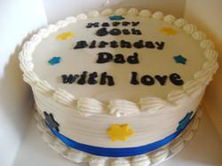Barbados Flag Colours Birthday Cake
