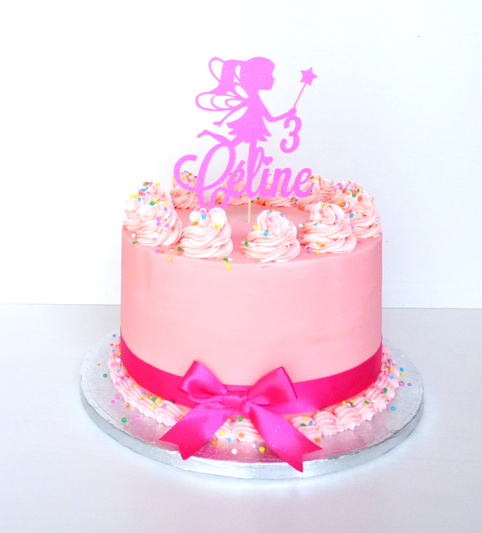 Pink Buttercream Cake