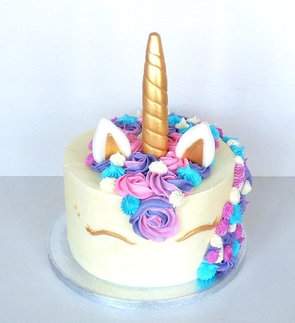 Unicorn Buttercream Birthday Cake