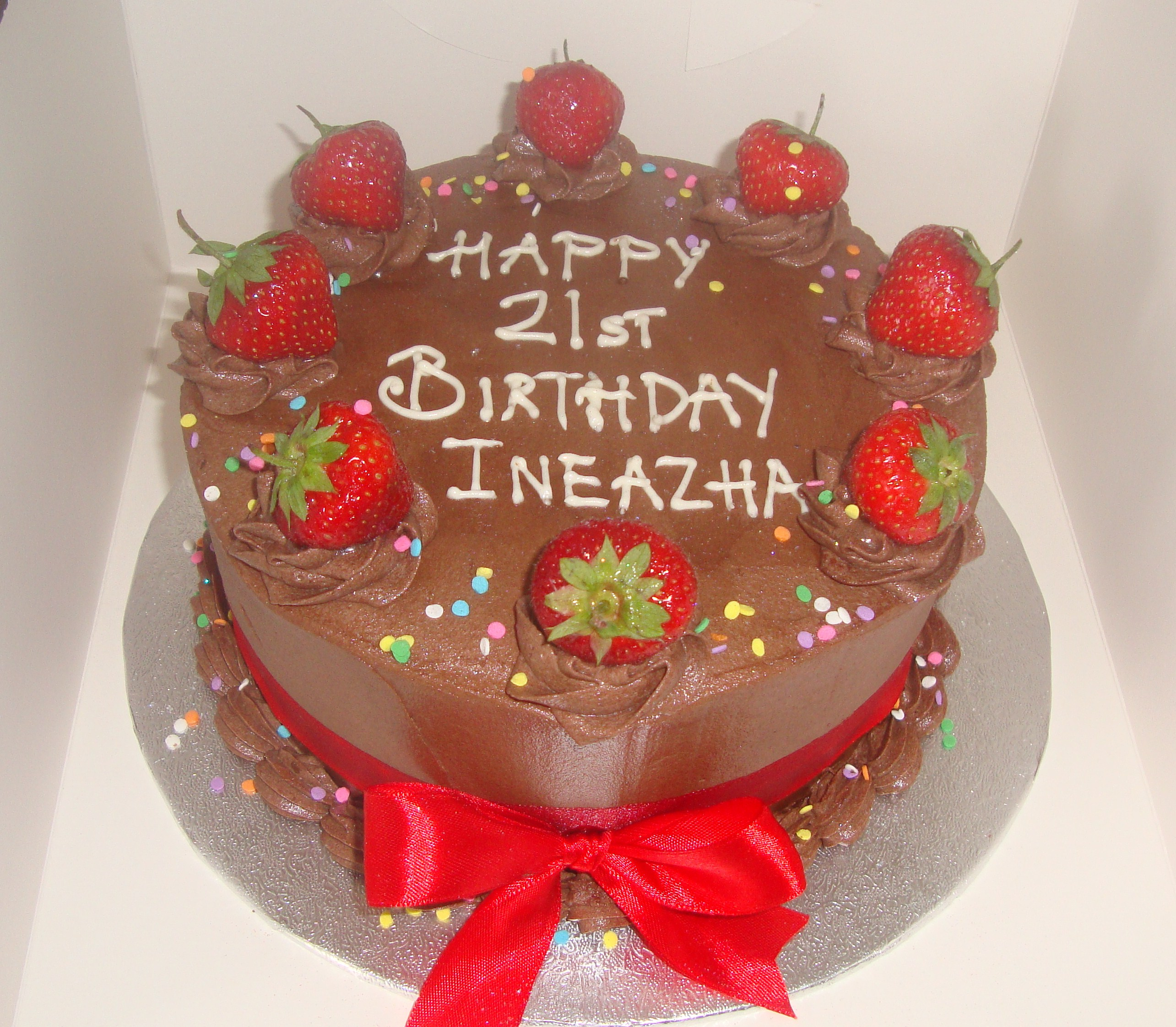 Chocolate & Strawberry Birthday Cake