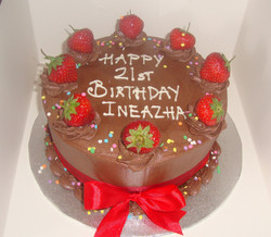Chocolate & Strawberry Birthday Cake