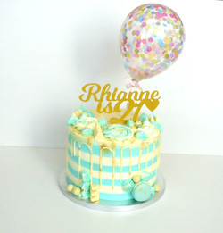 Striped Buttercream Birthday Cake