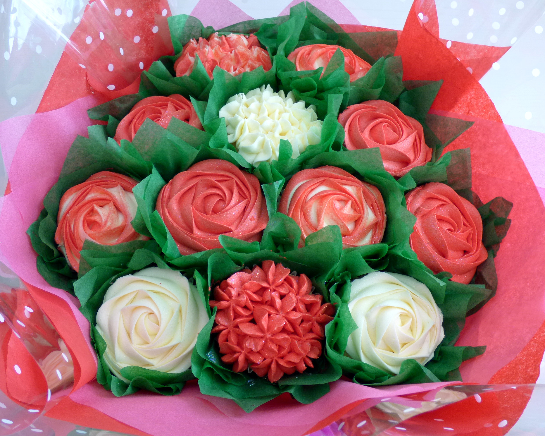 Large Valentine's  Cupcake Bouquet