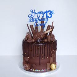 Chocolate Loaded Drip Cake
