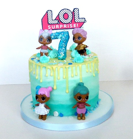 LOL Doll Themed Cake