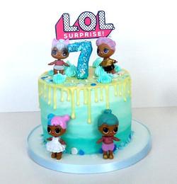 LOL Doll Themed Cake