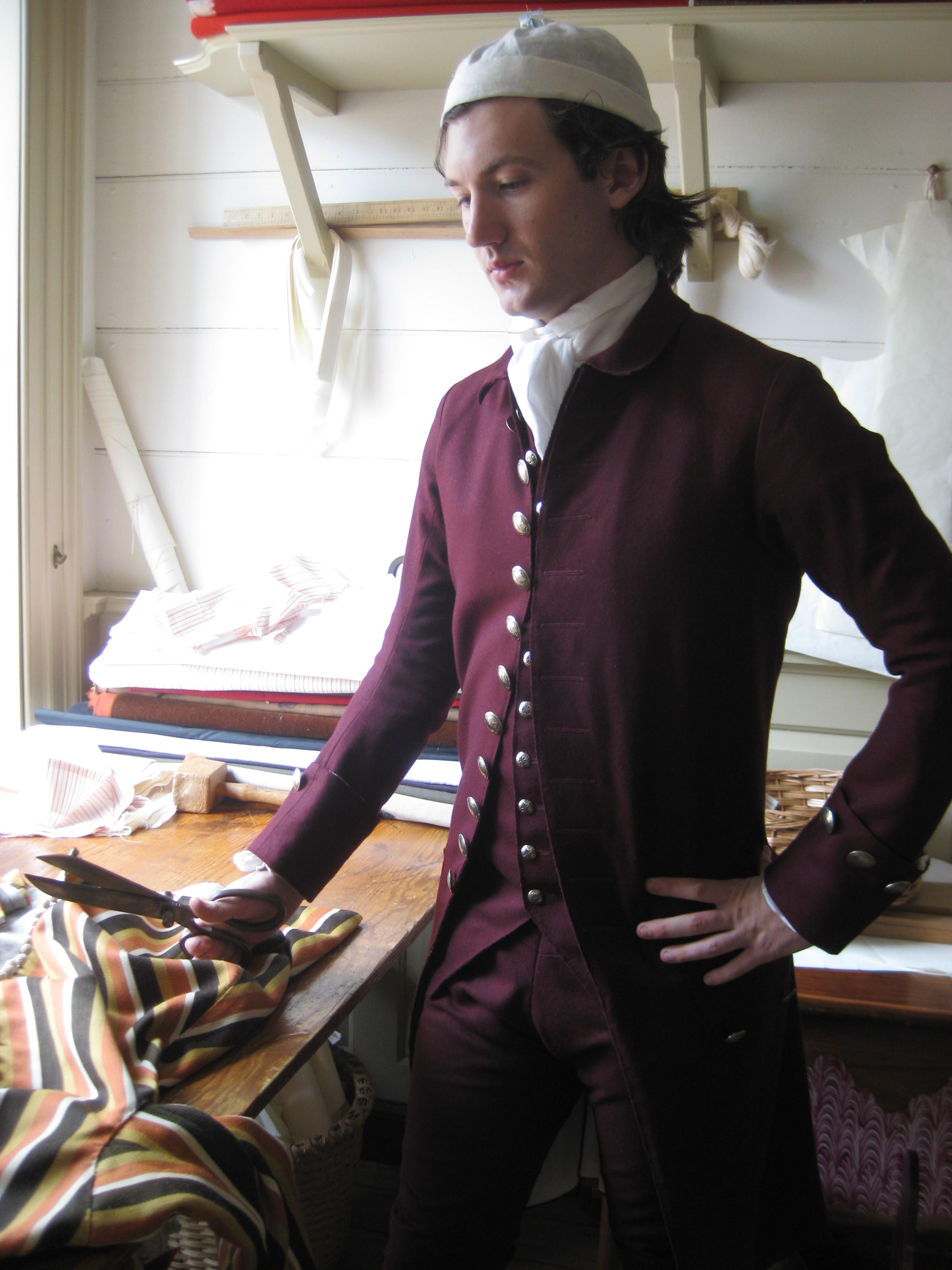 1770s Cut-Edge Wool Suit