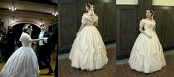 1863 Ballgown with headdress
