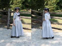 1770s Linen Quarter-back Gown