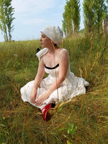 Sleeveless linen undergarment