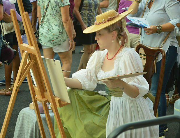 18th century living history artist at wo