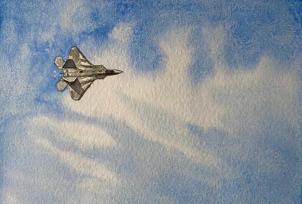 """Blue Sky Flyby"" (Lockheed Martin F-22 Raptor)"