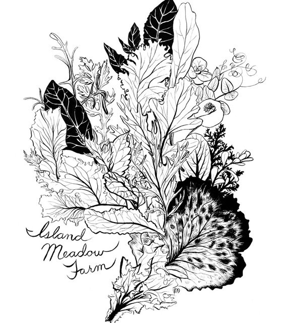 Screen Print - Island Meadow Farm (2010), Vashon Island