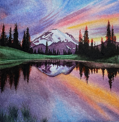 """Worth the drive"" (Miniature - Mount Rainier, Washington)"