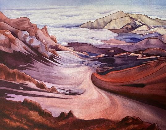 """Descent Into the Crater"" (Haleakala, Maui)"