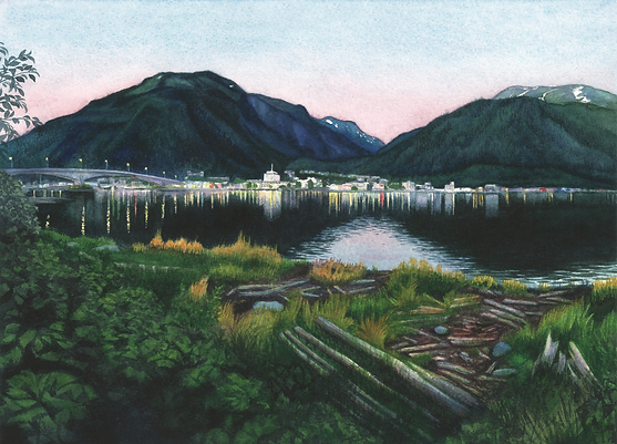 """Evening on Gastineau Channel"" (Juneau, Alaska)"
