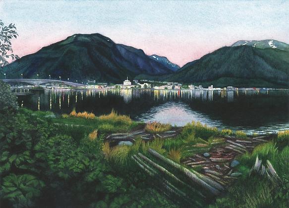 """Evening on Gastineau Channel"" (Juneau, Alaska)"