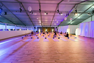 Temporary Ballroom in a Temporary Structure with Wood Floor HVAC and Decor