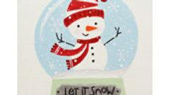12 x 12 SNOWMAN SNOWGLOBE