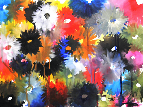 Watered Flors - Print