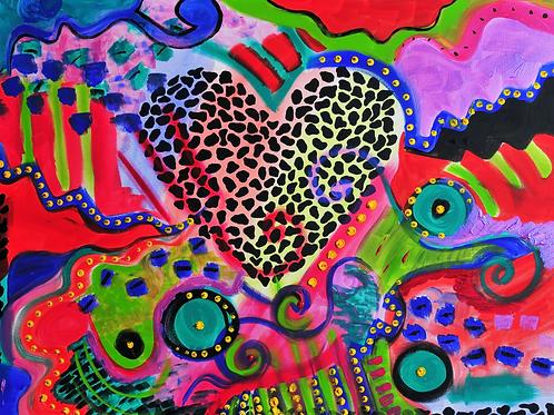 Leopard Heart - Print