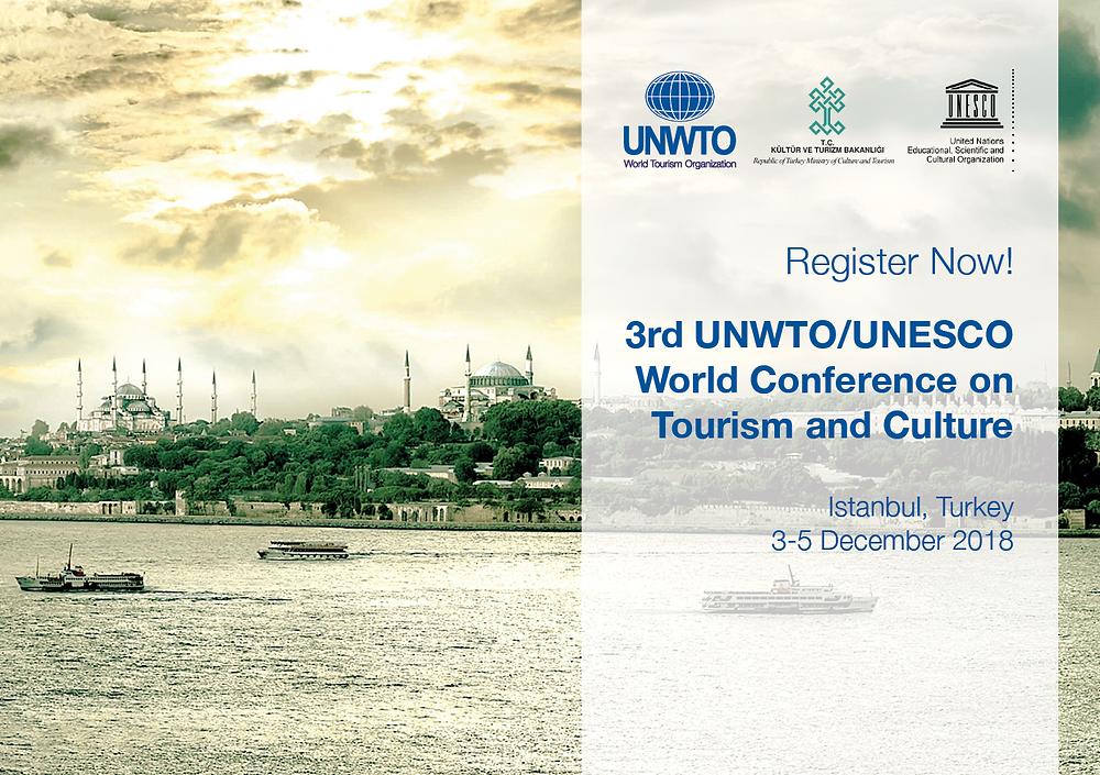 С 3 по 5 декабря 2018 года в Стамбуле пройдет 3-я международная конференция UNWTO / UNESCO по туризму и культуре.