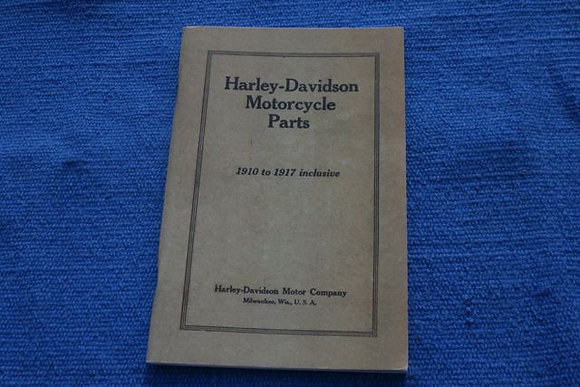 1910-1917 Harley Davidson parts manual