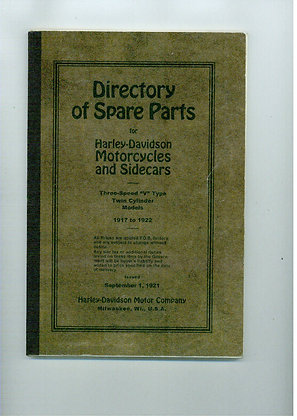 1917-1922 Harley Davidson parts manual