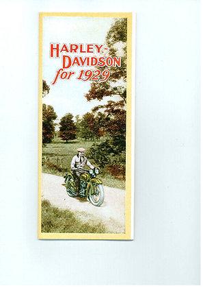 1929 Harley Davidson Sales Brochure