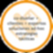co-diseñar +  clientes + expertos soluciones ad-hoc estrategias tácticas