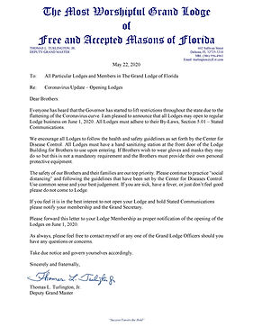 Letter from the Deputy Grand Master-page