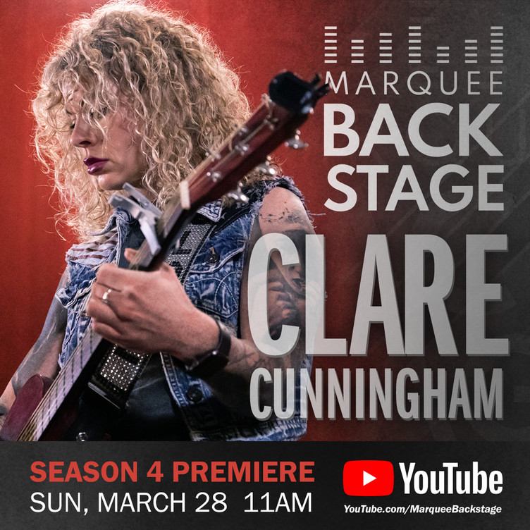 Clare Cunningham debuting on 'Marquee Backstage' Sunday 28th March 2021