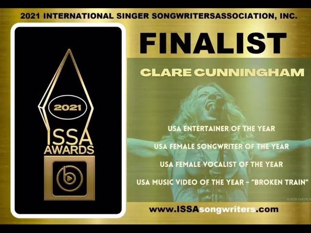 Clare a FINALIST in 2021 'INTERNATIONAL SINGER-SONGWRITER AWARDS'