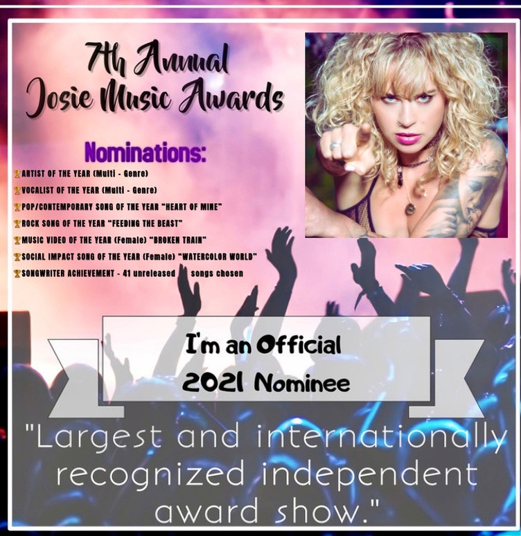 Clare nominated in 7 categories at this years 'Josie Music Awards'.