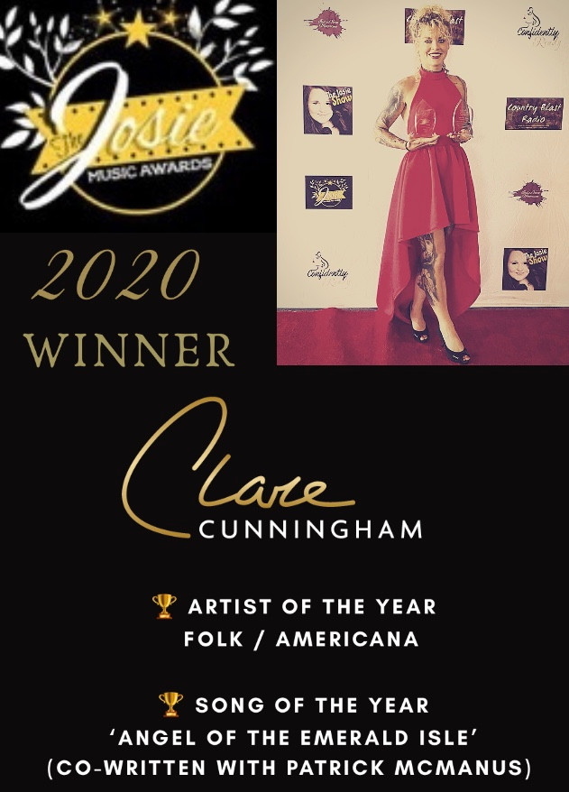 Clare Cunningham takes home 2 awards at this years 2020 'Josie Music Awards'