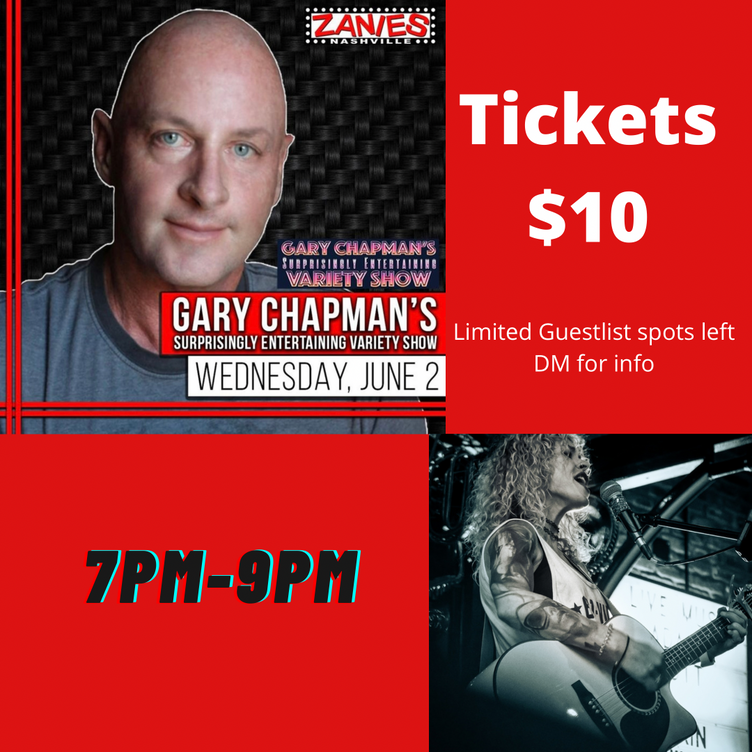 Clare joins Gary Chapman and a great line-up for  another night of comedy and music at 'Zanies'