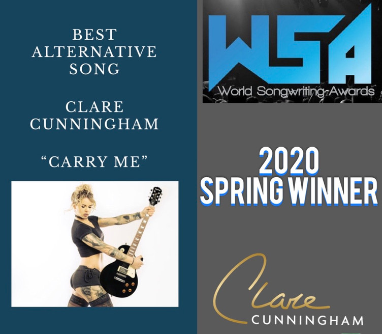 CLARE WIN'S 'BEST ALTERNATIVE SONG' AT THE WORLD SONGWRITING AWARDS 2020 (WSA)