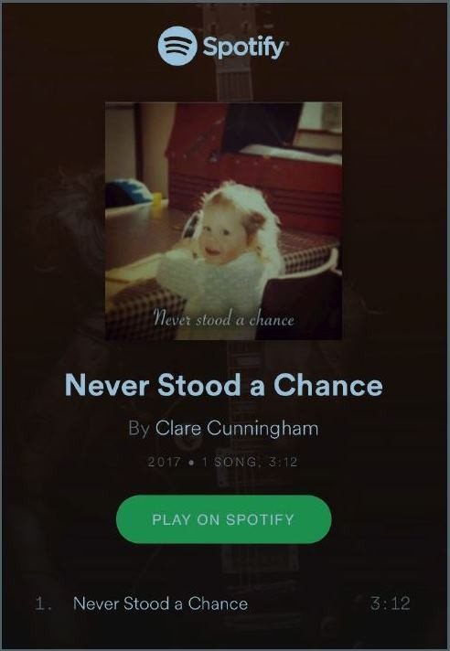 New​ ​single​ ​OUT​ ​NOW!​ ​'Never​ ​Stood​ ​a​ ​chance'