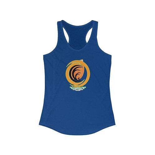 """Crushin It"" Ocean Dojo Logo Shirt - Women's Ideal Racerback Tank"