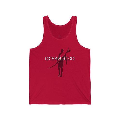 """Ocean Dojo Clothing """"Ocean Dojo Maui Front"""" - Unisex Jersey Tank"""